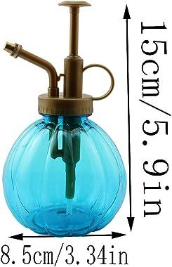 LQ Industrial Watering Can 350ml Pumpkin Shaped Plant Flower Watering Pot with Pump Garden Hand Press Spray Bottle Plant Mist