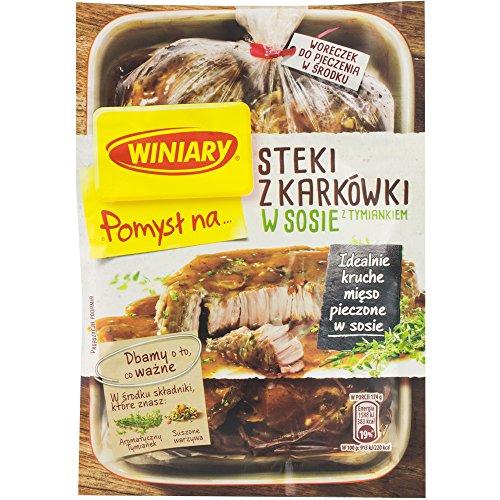 WINIARY Pomysl na Steki z karkowki w sosie z tymiankiem 44g // Idee für Schweinesteaks in Sauce mit Thymian 44g