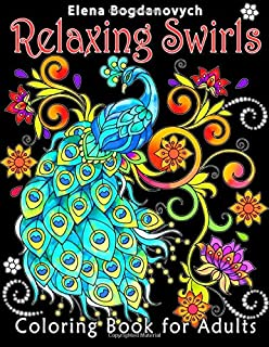 Relaxing Swirls: Coloring Book for Adults