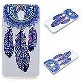 Qiaogle Teléfono Caso - Funda de TPU Silicona Carcasa Case Cover para Lenovo Vibe P1 (5.5 Pulgadas) - MM04 / Azul atrapasueños
