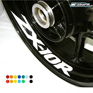 psler Motorcycle Wheel Rim Interior Decals Reflective Stickers For Kawasaki ZX-10R