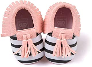Baby Cute Shoes Toddler Infant Unisex Girls Boys Soft Pu Leather Tassel Moccasins Shoes First Walkers