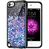 Caka iPod Touch 5 6 7 Case, iPod Touch 7th Generation Glitter Case for Girls Women Luxury Fashion Bling Flowing Liquid Floating Sparkle Glitter Soft TPU Case for iPod Touch 5 6 7 (Blue Purple)