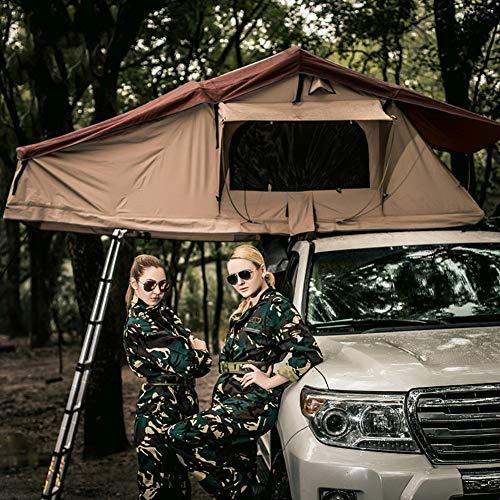 Qiulv Autodachzelt Harte Schale Dachzelt Autodachzelt Falten Dachspitze Hydraulikzelte Wasserdicht, 2-3 Leute UV-Schutz Sonne Camping Zelte Wasserdicht Tragbare Cabana (Nicht einschließlich Auto)