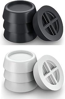 Lakobos 8 PCS Washing Machine Feet Anti Vibrant Pads Non Slip Vibration Dampers Shock Absorbing Feet Pad Rubber Block Anti...