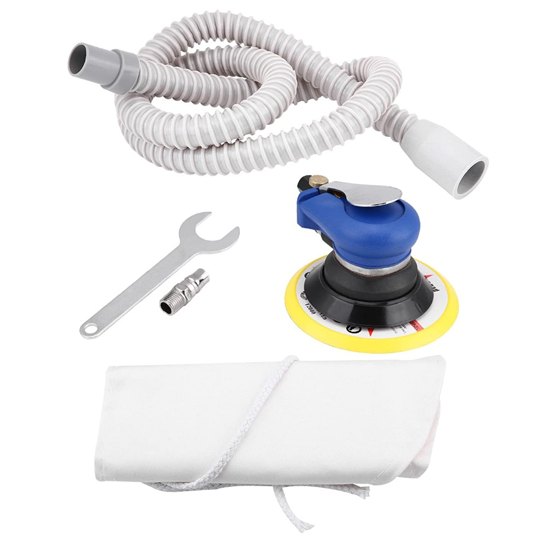蒸気解明する待ってQiilu 洗車用 エアサンダー 空気圧ポリッシャー オービタルサンダー 9000RPM ハンドサンディングツール 円形 (02)