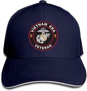 Jcaic Rinaa U.S. Marine Corps Vietnam Era Veteran Adjustable Baseball Caps Vintage Sandwich Cap