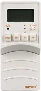 Woods 59744 59744WD Flip Converts Toggle Switch Timer, User Friendly, Slim Design, Energy Saving, Battery Operated, Easily Programmable with Adjustable Settings, White