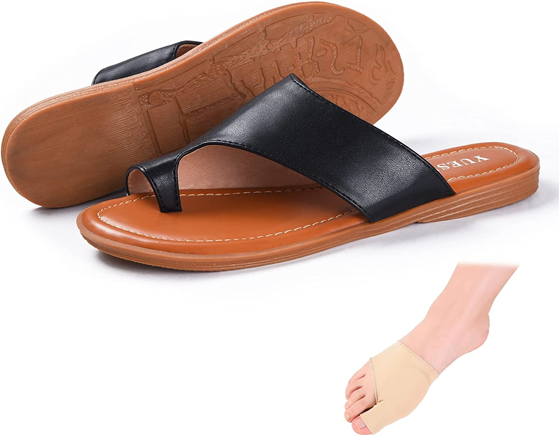 Bunion Sandals For Women Corrector Comfort Bunion Corrector Flat Shoes Orthopedic Toe Ring Slides Flip Flops
