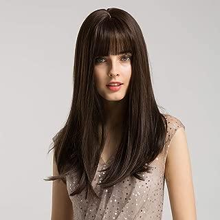 brunette wig bangs