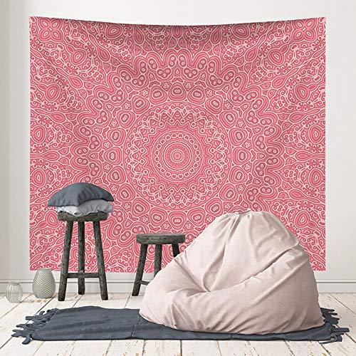 Tapiz de mandala para colgar en la pared, toalla de playa bohemia, esterilla de yoga, mantón, sábana, tapiz bohemio rosa, 150x179 CM