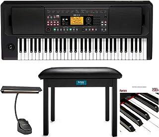 Korg EK50L Keyboard with High-Output Speakers Bundle with Kn
