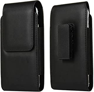 DFV mobile - New Design Holster Case with Magnetic Closure and Belt Clip swivel 360 for Tesla Smartphone 3 - Black