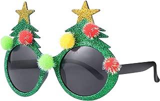 BESTOYARD Christmas Sunglasses Novelty Christmas Tree Eyeglasses Plastic Costume Eyeglasses for Party Favors