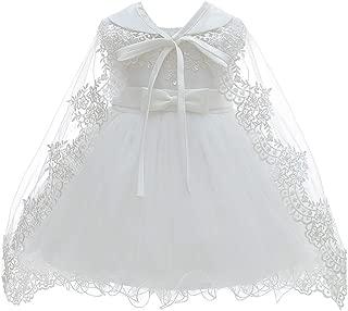 Baby Girls Christening Baptism Dress Satin and Tulle Baby Girl Dress for Flower Girl & Birthday