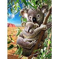 ペイントby NumberキットPaintworks Diy油絵子供と大人 DIY絵 デジタル油絵 動物のクマ-diyの木製フレーム