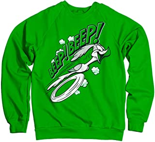 Looney Tunes Officially Licensed Inked BEEP BEEP Sweatshirt (Green)