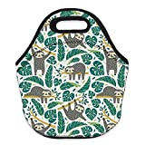 Neoprene Lunch Bag, Loomiloo Printed Insulated Lunch Box School Picnic Thermal...
