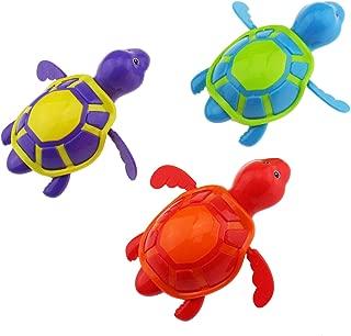 Tipmant Kids Baby Toddler Bath Toy 3 Pieces Tortoises Turtles Swim in Bathtub, Fish Tank, Water Pool