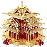 piececool Rompecabezas de metal 3D cortadas con láser, para adultos, diseño tradicional de arquitectura china