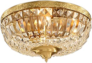 E27X4 all bronze Ceiling lights Bedroom lights European style Round Copper lamp Lighting LED (43 * 23cm)