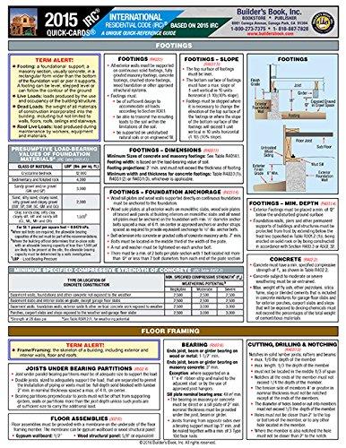2015 International Residential Code (IRC) Quick-Card