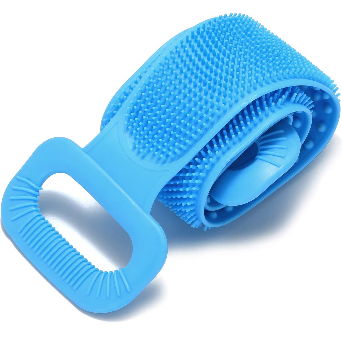 RIVTUN Silicone Bath 5 ☆ very popular Body Brush Back Superior Shower Easy to Scrubber for