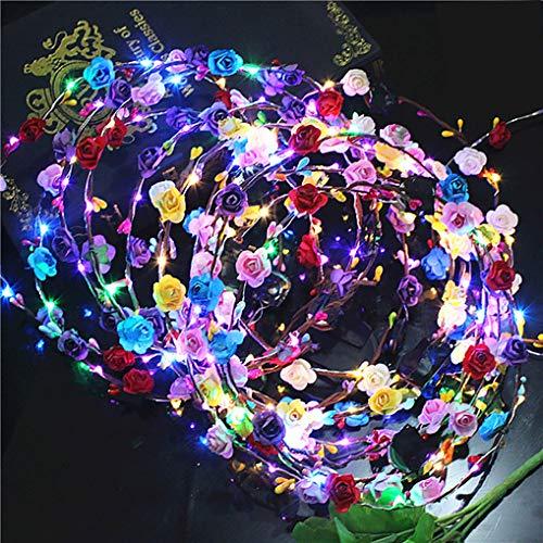 LED Diadema Guirnalda, Yidaxing 10 pcs Garland Diadema Decorativa Luminoso 10 LEDs...