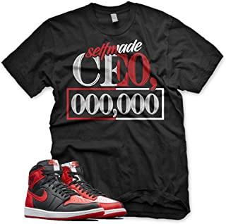 New Selfmade CEO T Shirt for Jordan 1 Homage to Home NRG Bred Chicago Bull