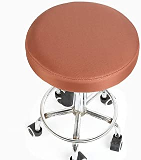 KKONION Waterproof Round Chair Cover Removable Anti-Slip Swivel Salon Chair Protector Stretchable Bar Stool Slipcovers