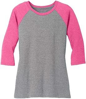 Ladies Raglan Baseball T-Shirts-3/4 Sleeve Baseball Tees. Sizes XS-4XL