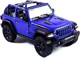 HCK Jeep Wrangler Rubicon 4x4 Convertible Off Road Exploration Diecast Model Toy Car Blue