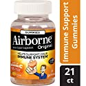 Airborne Orange Flavored Gummies, 21 count - Vitamin C 1000mg - Immune Support Minerals & Herbs,  Antioxidants (Vitamin A, C & E), Gluten-Free