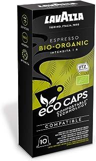 Lavazza 50 Nespresso Kompatible Eco Caps Kapseln, kompostierbar, Kaffee Bio Organic, 5 x 10er Pack 265 g