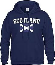 Cybertela Faded Distressed Scotland Flag Sweatshirt Hoodie Hoody