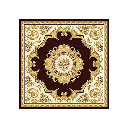 Flashing Snijmat, dik, zacht, Europees tapijt, antislip, vierkant, machinewasbaar, voor thuis, koffie, woonkamer, draaibare mat