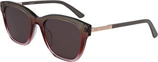 CALVIN KLEIN Women's Sunglasses Square, Ck American Heritage - Crystal Taupe/Pink Gradient