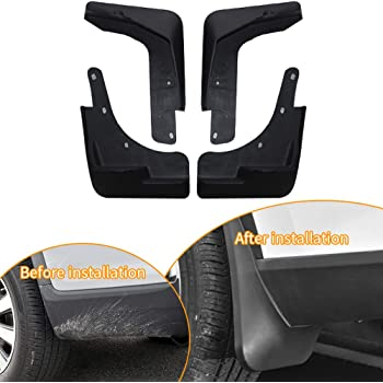 Upgraded Tire Mud Flaps Auto Splash Guards for 2016-2018 Honda Civic Sedan Front Rear Mudguards Wheel Accessories Styling /& Body Fittings 4Pcs Black