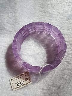 7 inch strand natural lavendor amethyst 12x18 mm rectangle smooth beads - sale - 12x18mm lavendor amethyst stretch bracelet in 7 inch natural gemstone bracelet