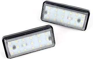 Astra Depot 1 Pair 6000K White 18 1210-SMD LED Direct Fit License Plate Light Kit for Lexus LX470 LX570 GX470 Toyota Land Cruiser