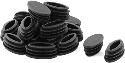 Sourcingmap 25PCS 20/x 20/mm plastica a coste tubo quadrato inserti estremit/à tappo di copertura per 1,7/cm a 1,9/cm Dimensioni interne mobili sedia tavolo piedi Proteggipavimento