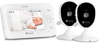 Lionelo, Babyline 8.1 babymonitor med kamera och mottagare tvåvägskommunikation räckvidd upp till 300 m vaggvisa-temperatu...