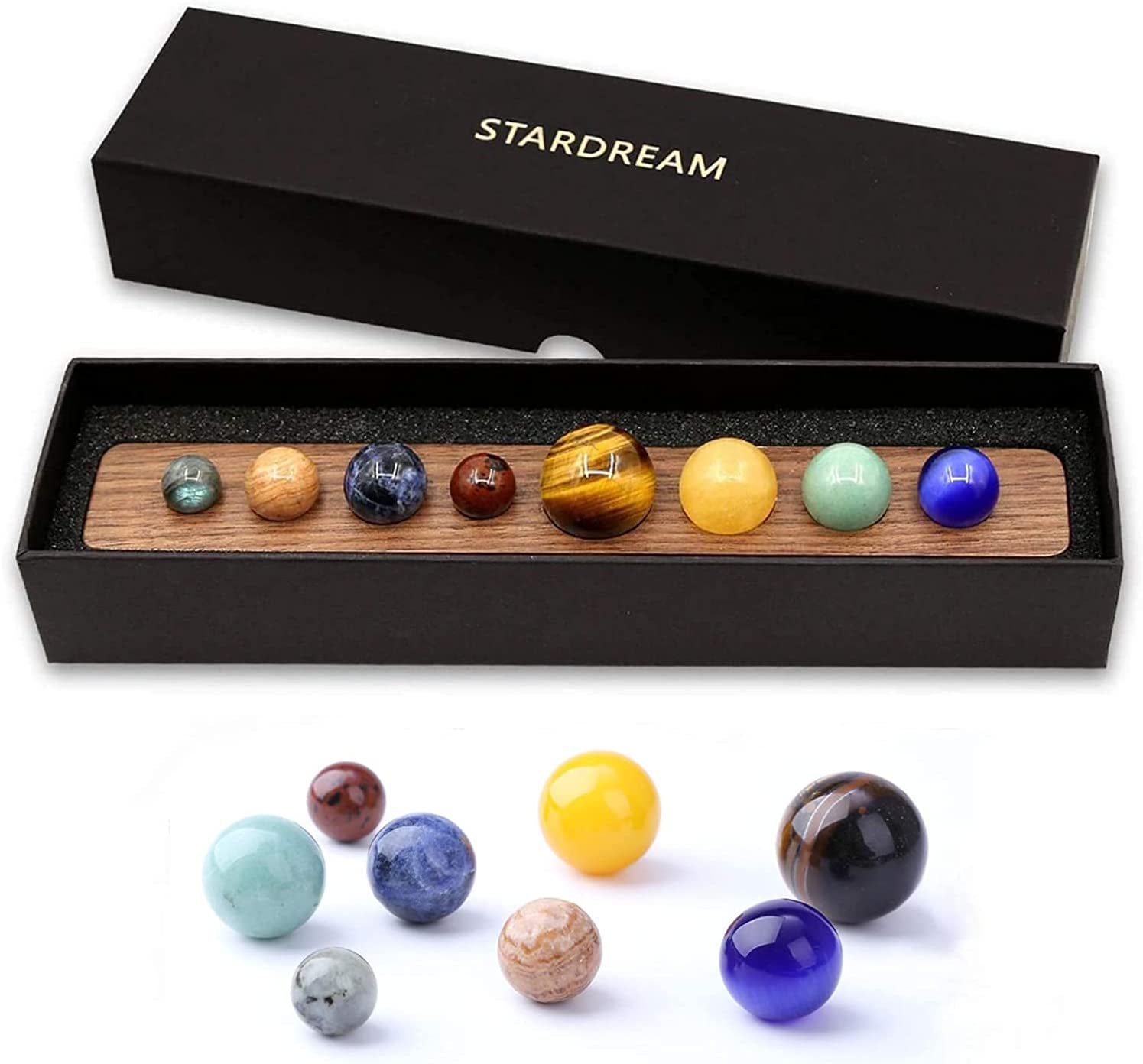 Desk Max 49% OFF 8 Planets Handmade Natural Gemstone Celestial Gift Creative At the price of surprise