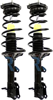 Detroit Axle - Pair (2) Front Strut & Coil Spring Assembly for 2001-2009 Volvo S60 - [1999-2006 Volvo S80] - 2001-2002 Volvo V70 FWD - [2003-2007 Volvo V70] - [WITHOUT Four C Active Chasis]