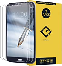 Stylo 3 Plus Glass Screen Protector,(3 Packs) Anti-Glare Ultra-Thin Crystal Clear 9H Hardness Anti-Scratch Tempered Glass Protective Film Replacement for LG Stylo 3 Plus MP450 TP450 M470 M470F PH3