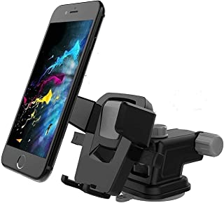 CQLEK ® 2RUGRIP Premium- Car Mobile Phone Holder - for Dashboard / Windshield / Desktop (Assorted Colour) Up to 6.5 inch S...