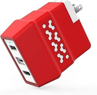 [2020年最新版]Nintendo Switch ACアダプター Nintendo switch hdmi 分配器 TVモード対応 SB Type C to USB 3.0 変換アダプター機能搭載 PSE認証済USBアダプター ドック替換 Switch ミニドック 充電スタンド 【HDMI変換/TVモード/テーブルモード】 切り替え Type-C USBポート 最新システム対応 放熱対策 小型 アダプター ジョイコン/プロコン接続 ブラック 1080Pハイビジョン伝送 過電流保護 Switch/iPhoneなどUSB PDの規格に準拠USB Cデバイスにも対応(白)