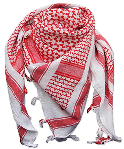 RomeoTrading Herren Schal Mehrfarbig Rot / Weiß Einheitsgröße