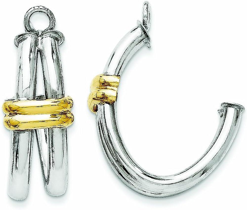 Finejewelers 14 kt Two Tone Gold J Hoop Earring Jackets