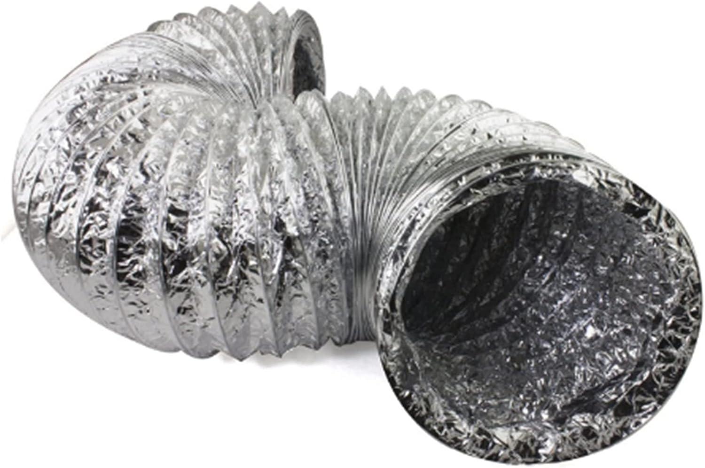 Sun Can 100 mm 150 mm Doble de aluminio flexible Doble de lámina de lámina Ajuste de la manguera del conducto del conducto en línea Ventilador del ventilador del tubo de ventilación Extractor de escap